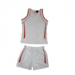 Style4Sport White/red basketball unisex uniform